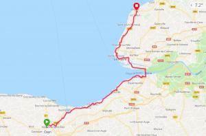 Caen - Étretat à vélo